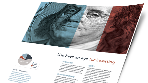 Financial Services Brochures, Flyers, Newsletters - Microsoft Word Templates & Publisher Templates