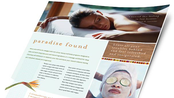 Health & Beauty Brochures, Flyers, Newsletters - Microsoft Word Templates & Publisher Templates