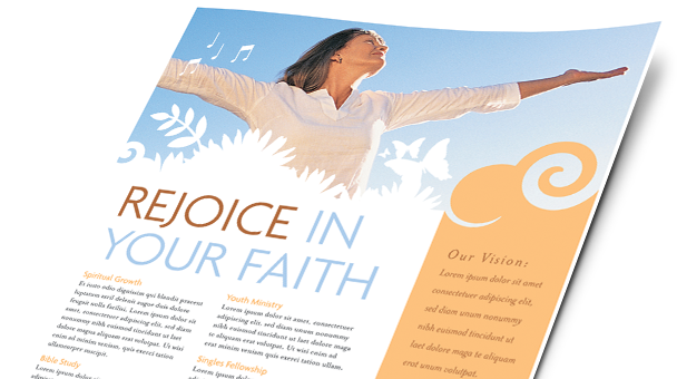 Church Brochures, Flyers, Postcards, Newsletters   Microsoft Word Templates  U0026 Publisher Templates